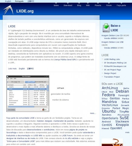 lxde.org-lightweight-x11-desktop-environment-portugues